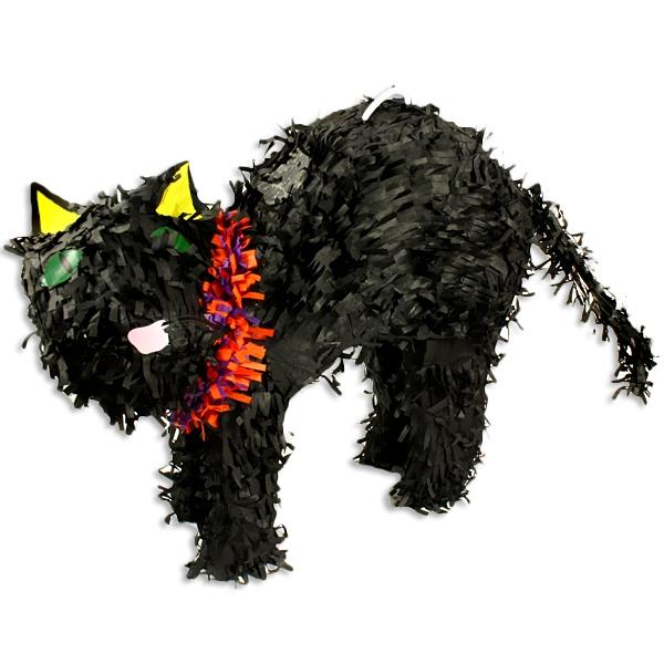 Schwarze Katze als Pinata zum Zerschlagen für das beliebte Geburtstagsspiel