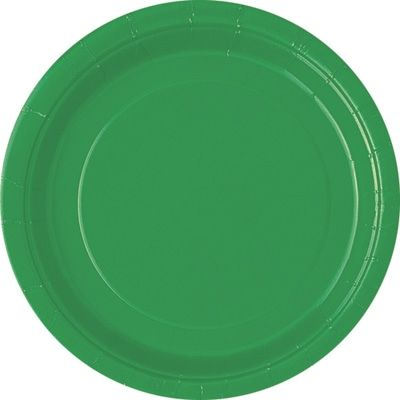 Pappteller einfarbig grün, 8er-Pack