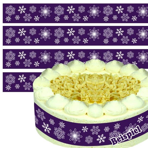 Zuckerband - Schneeflocken, essbar