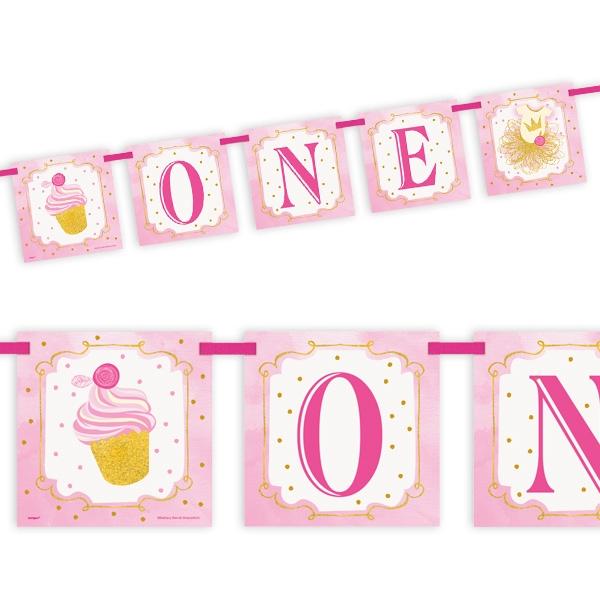 """""""1st Birthday"""" in pink & gold, Partygirlande"""
