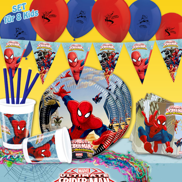 Spiderman - Mottopartyset, 59-teilig