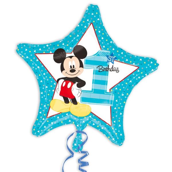Sternförmiger Folienballon Mickey Maus