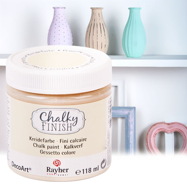 Chalky Finish Kreidefarbe Alabaster, samtartige Optik, 118ml, vielseitig einsetzbar