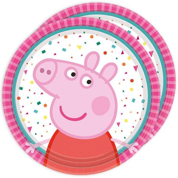 Peppa Pig Kuchenteller, 8 Stück, 18 cm