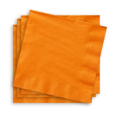 Servietten in Orange 20 Stk., 25cm, kleine Papierservietten, tolle Farbe