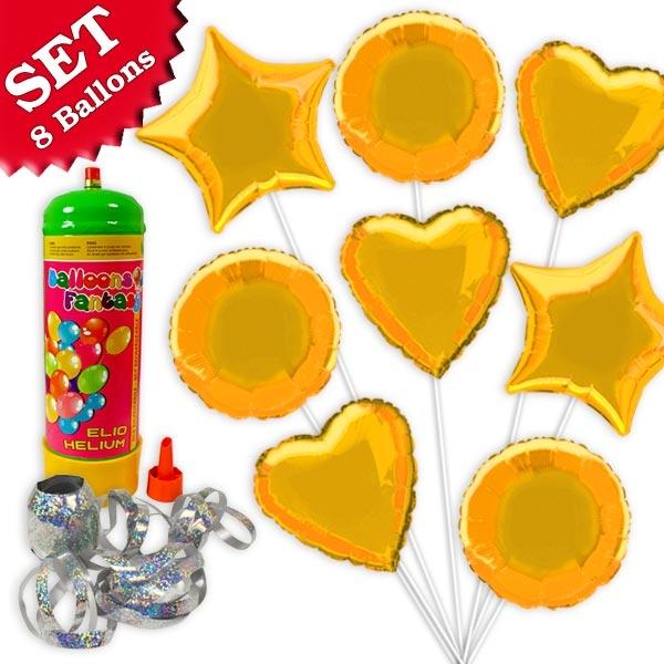 Helium Ballongas Set Gold, 10tlg