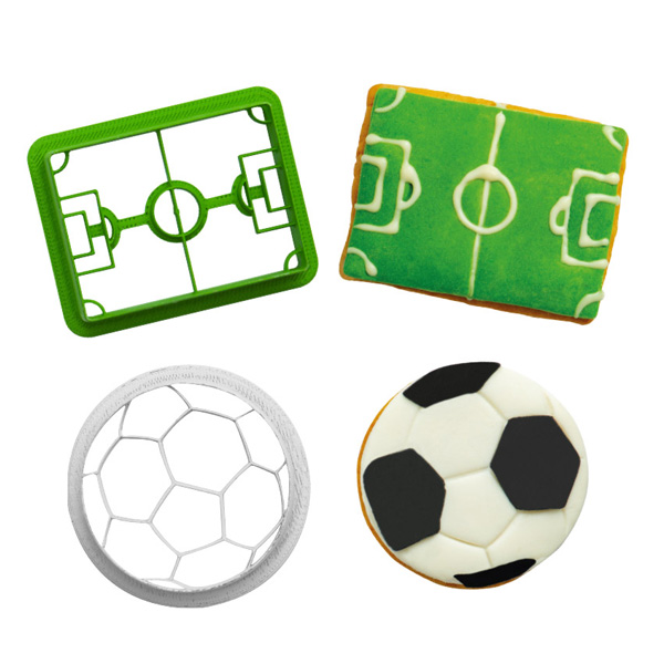 """Ausstechformen """"Fußball"""" im 2er Set, aus Kunststoff"""
