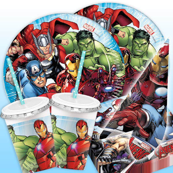 "Basicset ""Avengers"" für 8 Kids, 54-tlg."