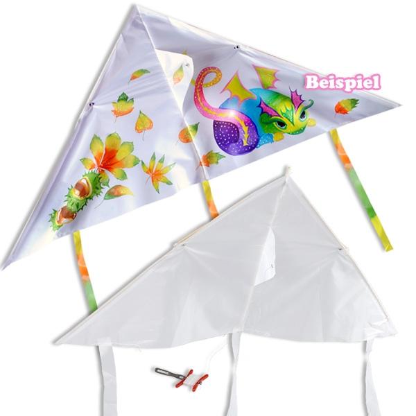 Drachen zum Bemalen, 90cm x 46cm, den eigenen Flugdrachen gestalten