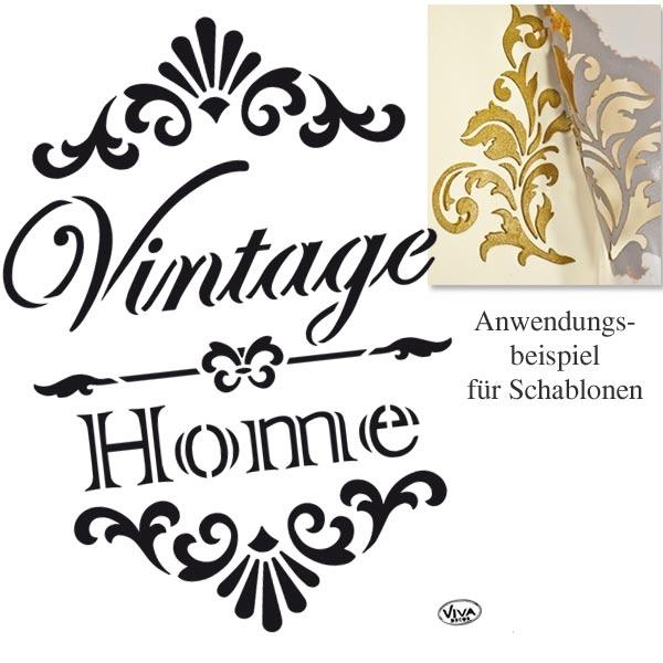 Universal Schablone Vintage-Home, DINA4, wiederverwendbar