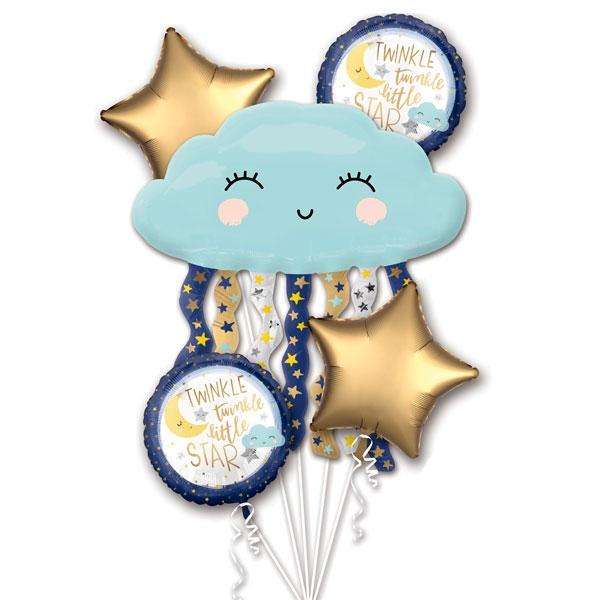 Twinkle - Little Star Folieballon Set, 5 Stk, bis 76cm, Babyparty