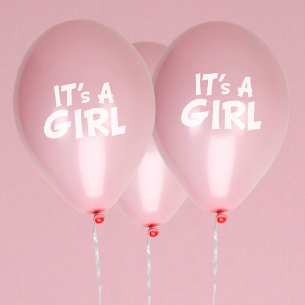 It`s a Girl, Latexballons in rosa, 8er Pack