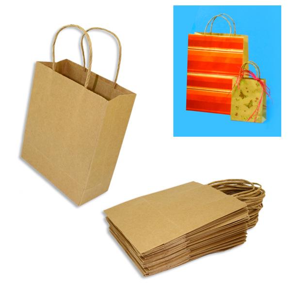 20 Geschenktaschen KLEIN, extra starkes Material, 12cm x 5,5cm x 15cm, zum Gestalten