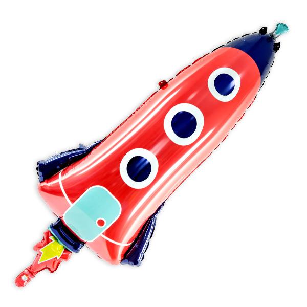 "XXL Folienballon ""Rakete"", 44cm x 115cm"