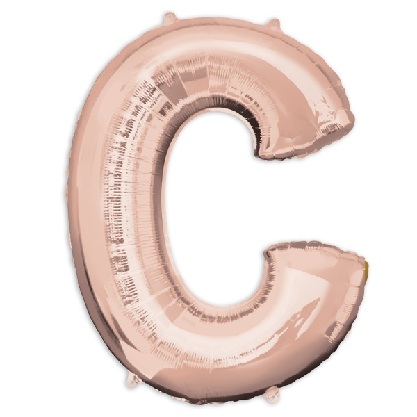 "Folienballon Buchstabe ""C"" - Rosé Gold"