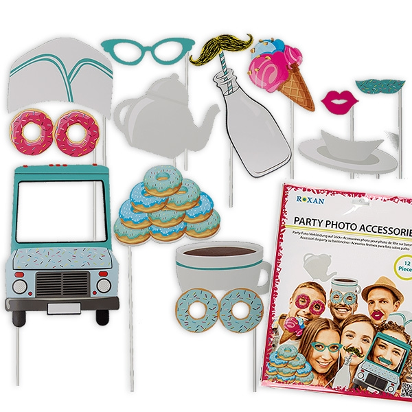 Sweet - Selfie Kit, Fotorequisiten für süße Selfies zur Kinderparty, 12-tlg.