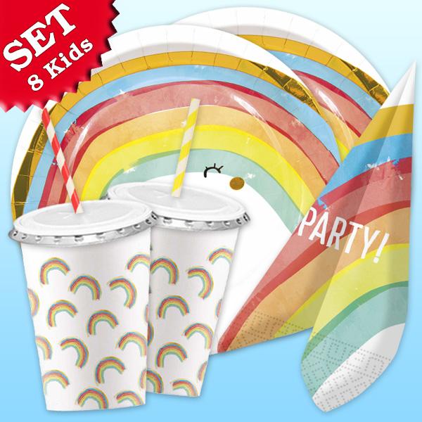 Regenbogen - Basic Set, 64-teilig für bis zu 8 Kids