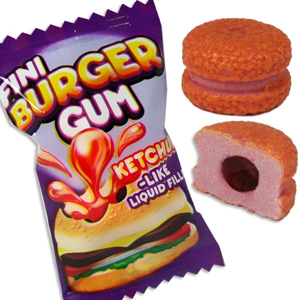 Boom Burger Bubble Gum, köstlicher Kaugummi mit flüssiger Füllung,1St.