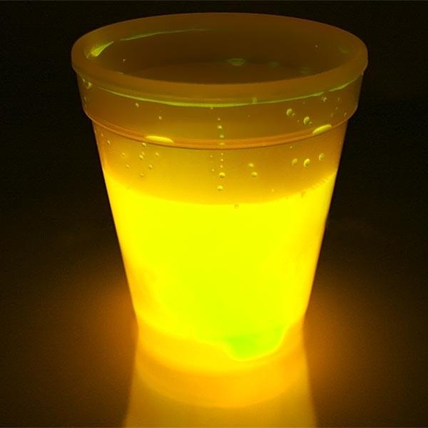 Knicklicht-Becher mit Unterteller für die Kinder-Party,250ml
