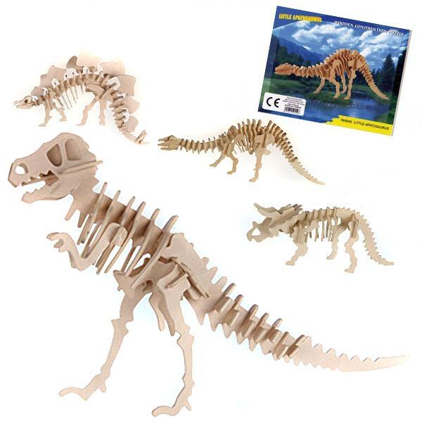 Dino-Holzpuzzle 12 × 30 cm, 1 Stk., cooles 3D Puzzle für Ihre Dinoparty