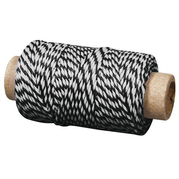 Deko-Garn schwarz-weiß, 35m x1mm, gehört in jeden Haushalt