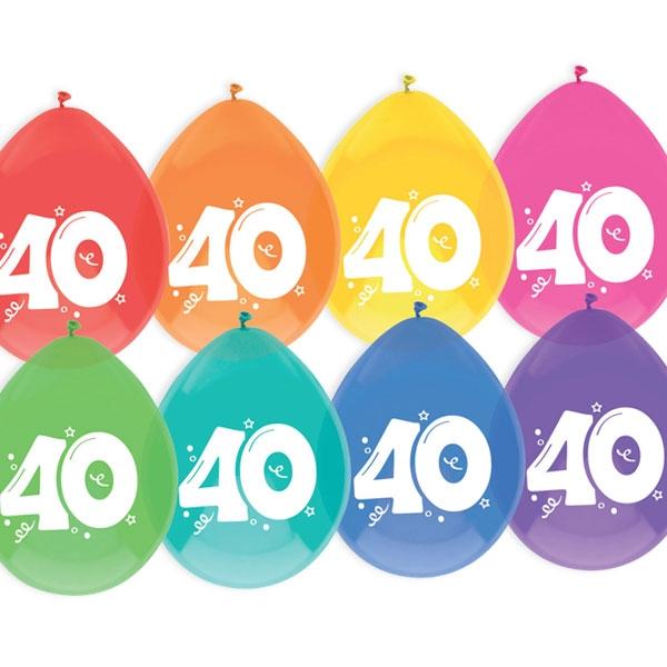 """Luftballons, bedruckt mit der Zahl """"40"""""""