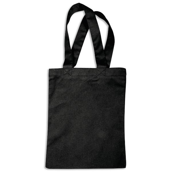 Schwarze kleine Baumwolltasche, 19cm x 26cm, ideal zum Gestalten