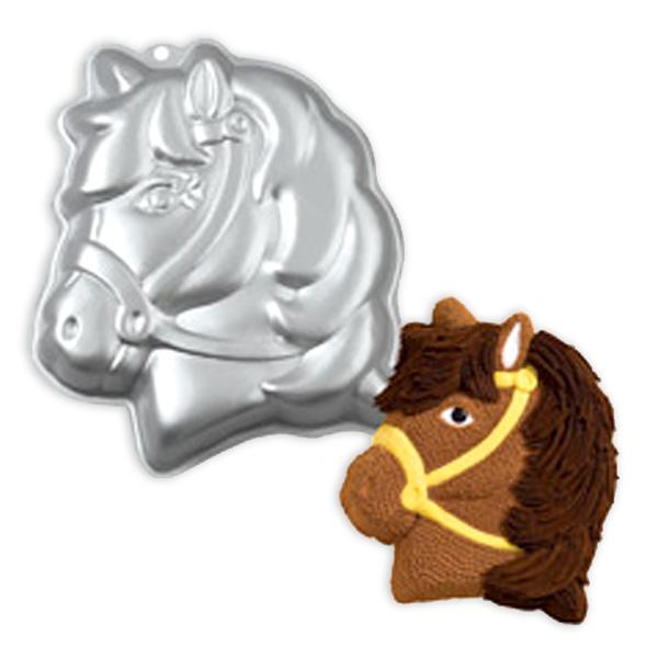 Motiv-Backform, Pferd aus Aluminium, 31cm x 27cm