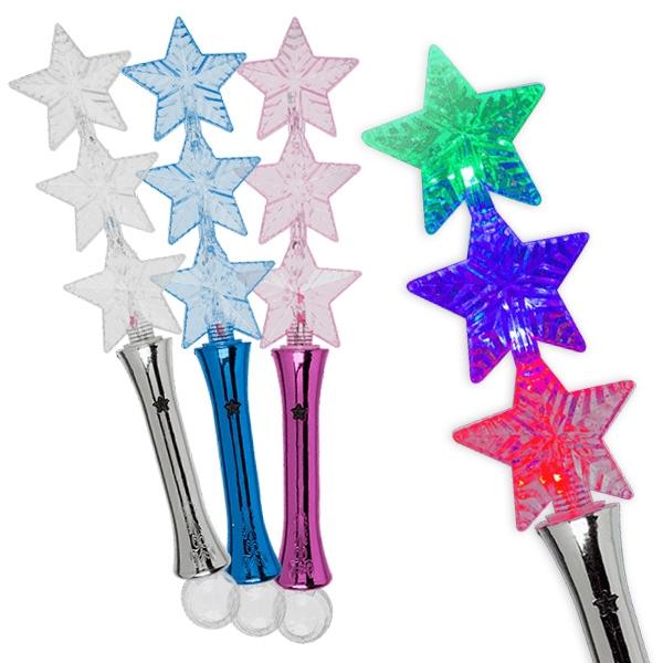 LED Leucht-Stab, Sterne, 1 Stück, ca. 33 cm, Batterien inkl.