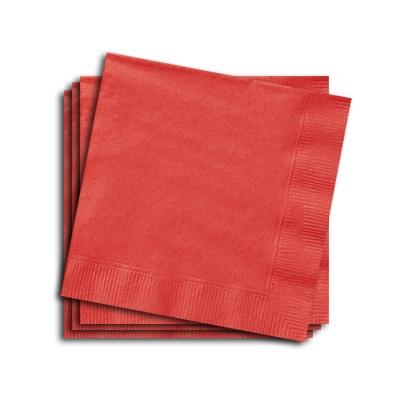 Papierservietten in Rot, 25cm, 20 Stk., einfarbige Servietten für alle Partys