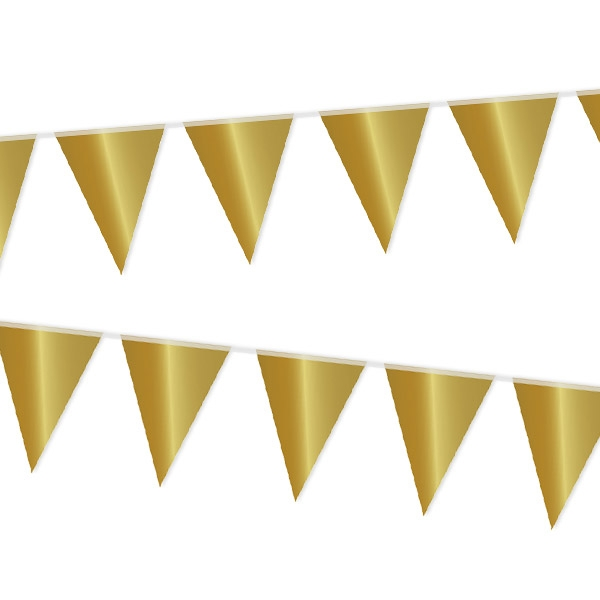 Wimpelkette in Gold, 10 m