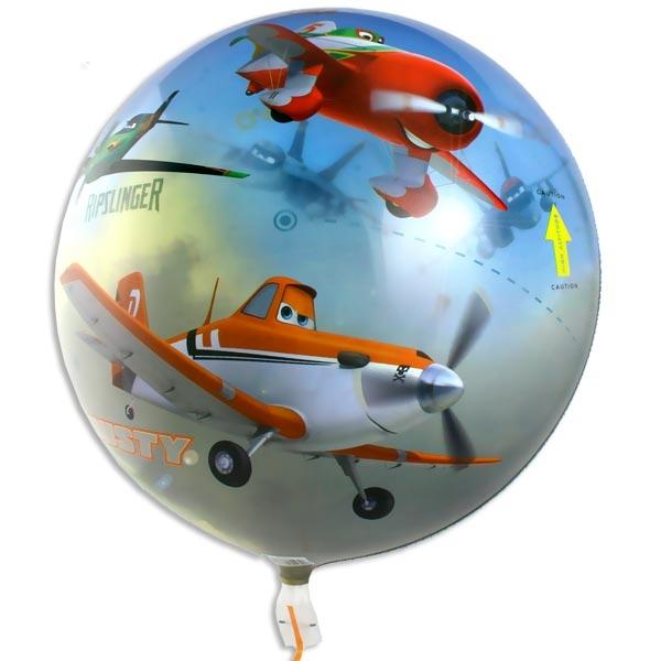 Planes Bubble Ballon +Band 40 cm