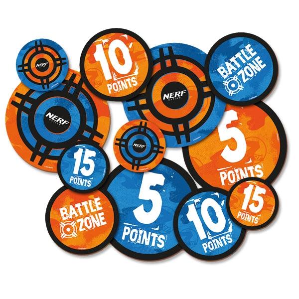 NERF XL Sticker Kinder, Aufkleber in 3 Größen, Ø 9, 12 und 18cm