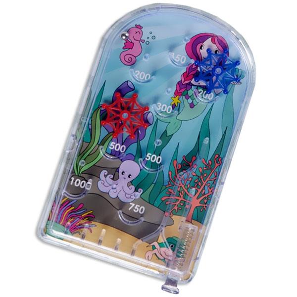 Meerjungfrau Flipperspiel, 1 Stk, 13,5cm, Mini Pinball für unterwegs