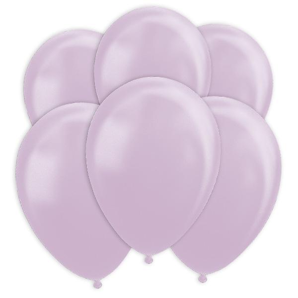 Lavendelfarbene Ballons mit Perlglanz-Effekt, 10 Stk., 30cm