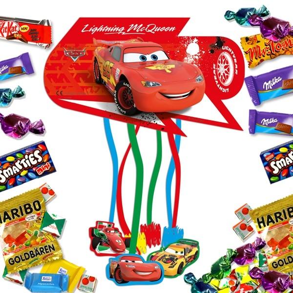 Cars Pinataset mit Süßigkeitenfüllung, zum Ziehen