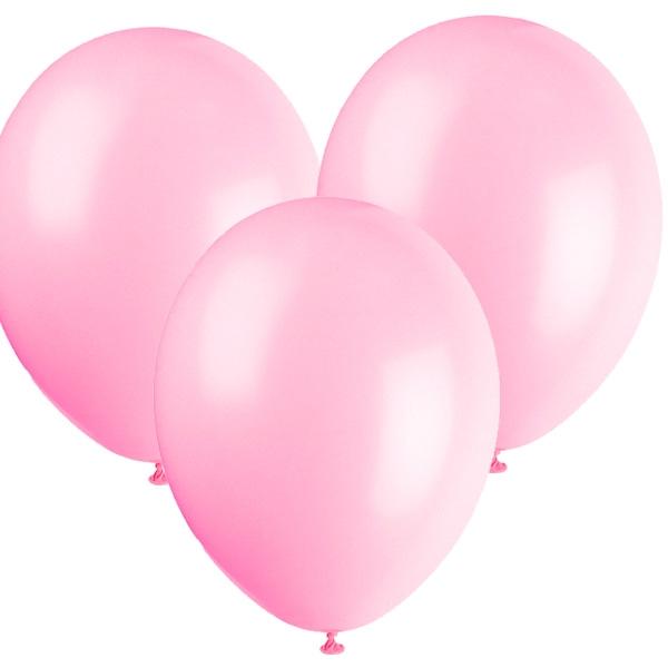 Luftballons rosa im 10er Pack, 30cm