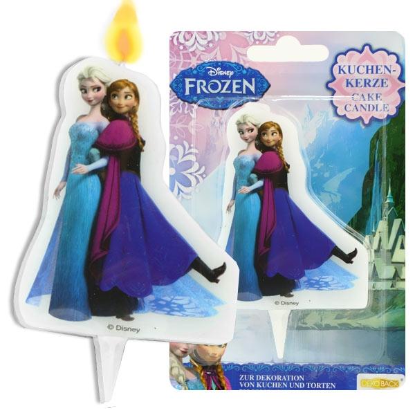 Kerze mit Anna und Elsa, 1 Stück Tortenkerze für Frozen-Motivtorte