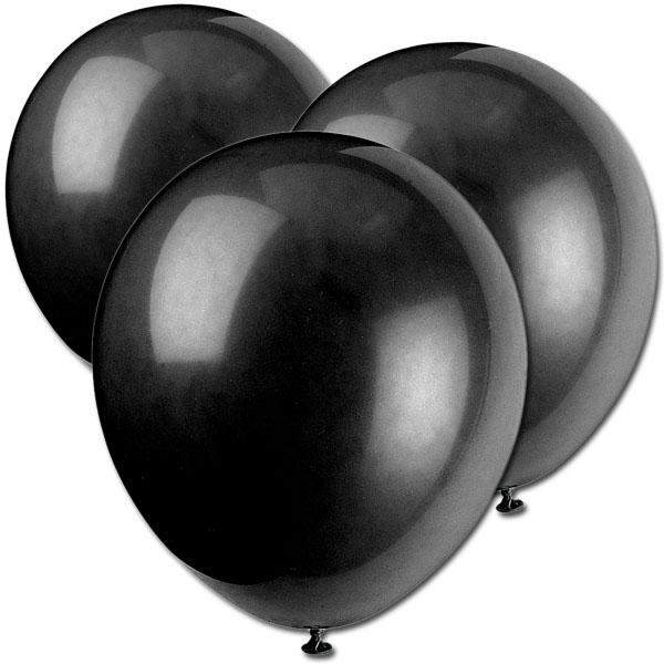 Luftballons schwarz 10 Stk., 30 cm