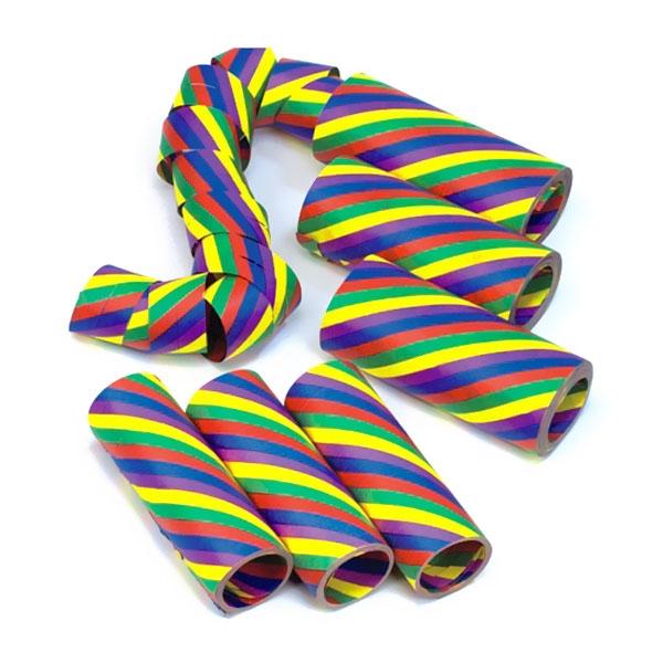 Luftschlangen Rainbow, 3 Rollen, Regenbogen-Papierschlangen