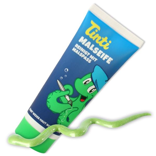 Tinti Malseife grün, 70ml Seife für Kinder, Badezubehör Kleinkinder
