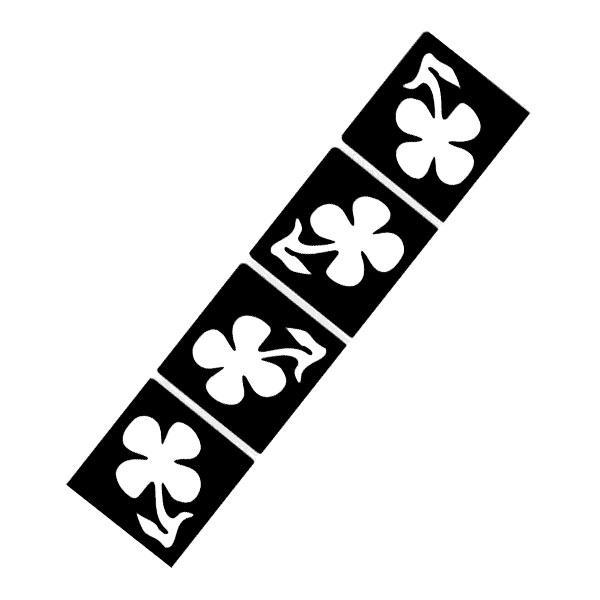 Glückbringende Kleeblätter, 4er Tattooschablonen-Set,Glücksmotiv 3,3cm