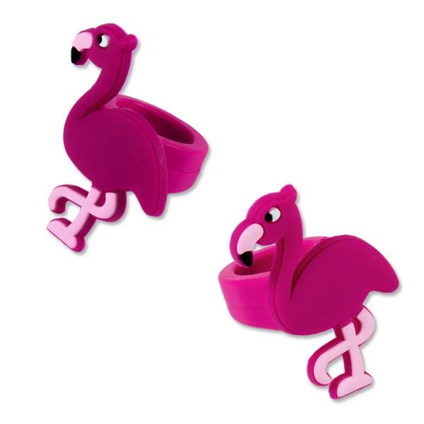 Flamingo Ring in PINK, 1 Stk, 4,5cm, Gummiring
