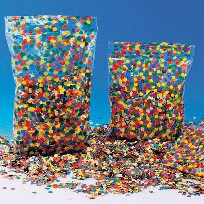 Konfetti im 100g-Beutel, buntes Papierkonfetti zum Werfen + Dekorieren