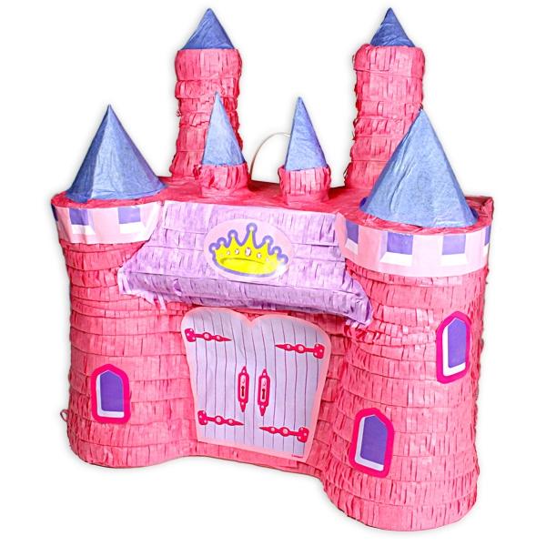 Pinata Märchenschloss, 42cm x 39cm, 1 Schloss-Pinata zum  Schlagen