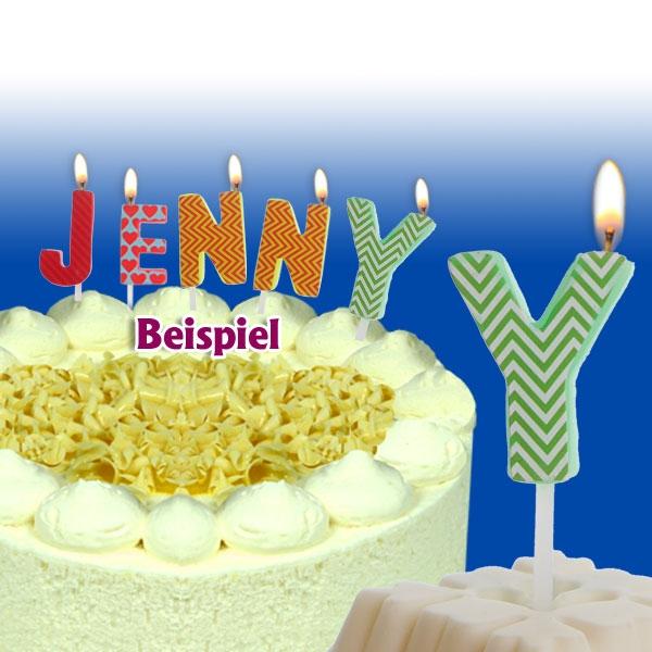 Mini Kerze Buchstabe Y für Namen & persönliche Sprüche, 2,5cm, 1 Stück