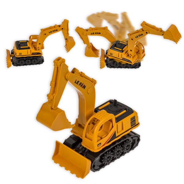 Modell-Bagger, Spielzeugbagger aus Kunststoff, 1 Stück, ca. 16 cm