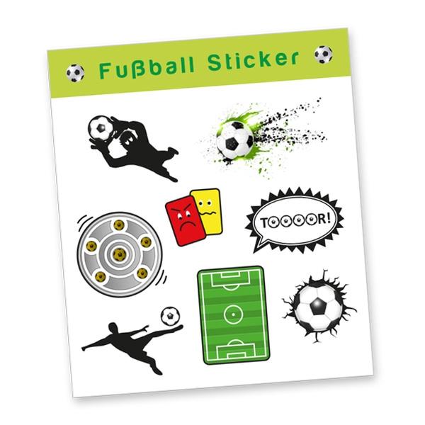 """Stickerbogen """"Fußball"""" mit 8 Stickern"""