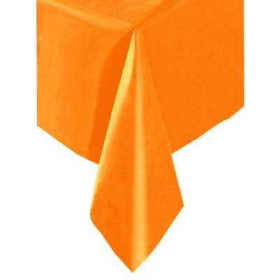 Tischdecke orange, Folie 1,4 × 2,7 m, eindrucksvolle Partytischdecke