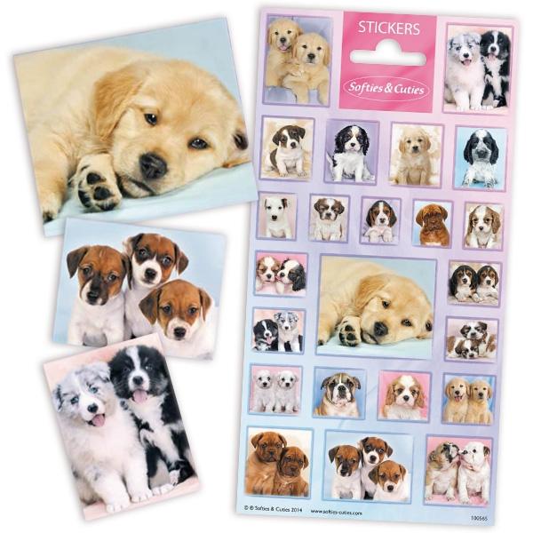 Hundewelpen Sticker, 1 Bogen Hundesticker mit niedlichen Welpen